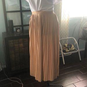 Pleaded jcrew skirt